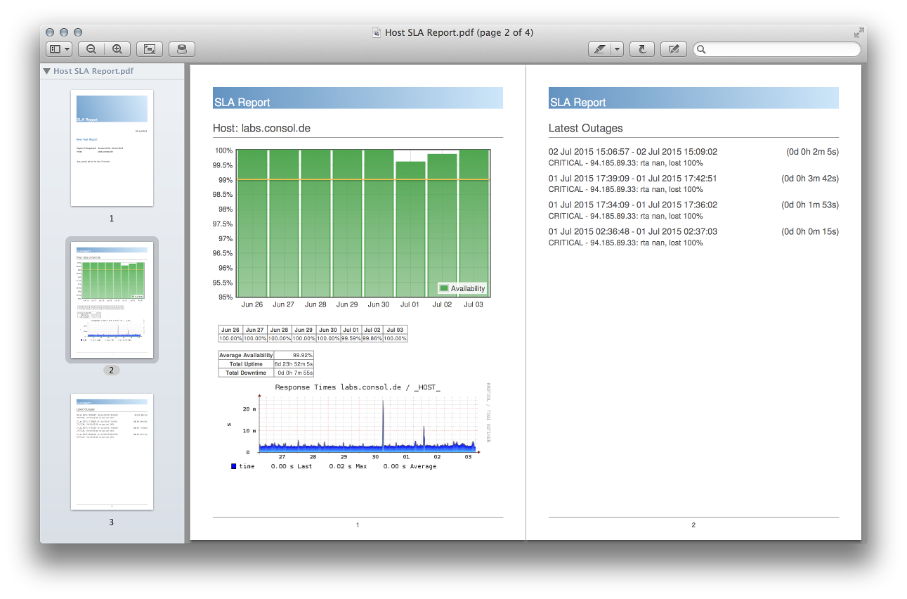 Thruk - Monitoring Webinterface for Naemon, Nagios, Icinga and Shinken
